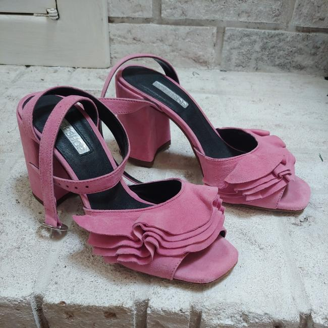 Item - Pink Ankle Tie Sandals Size EU 37 (Approx. US 7) Regular (M, B)