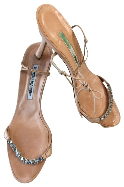 Item - Nude Jeweled Leather Sandals Size EU 36.5 (Approx. US 6.5) Narrow (Aa, N)