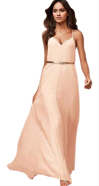 Item - Knife Pleated Long Casual Maxi Dress Size 0 (XS)