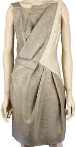 J. Mendel Sleeveless Pockets Couture Fitted Dress
