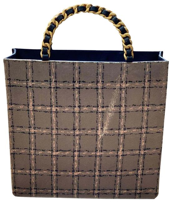 Item - Shopping Tote Vintage Rare 90s Tweed Shopper Brown Patent Leather Baguette