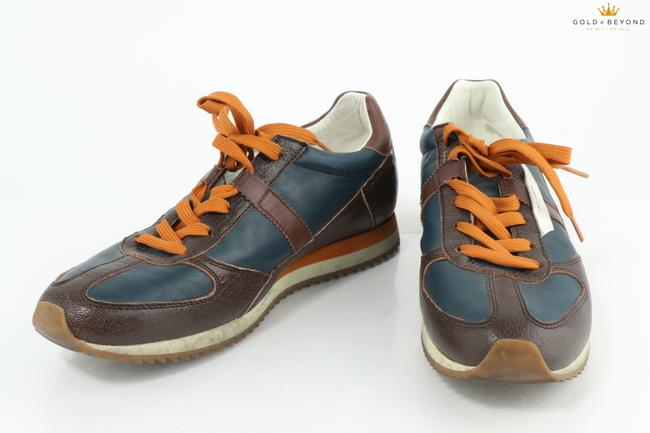 Item - Blue/Brown Sport Leather Tennis Shoes