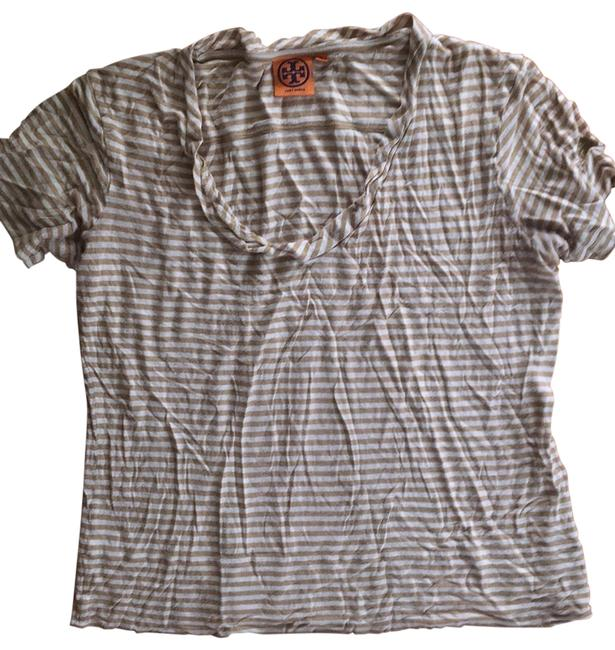 Item - Ecru/White Stripe Tee Shirt Size 10 (M)