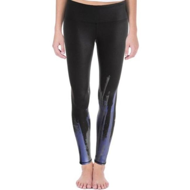 Item - Black Silver Purple Yoga Airbrush Printed Activewear Bottoms Size 0 (XS, 25)