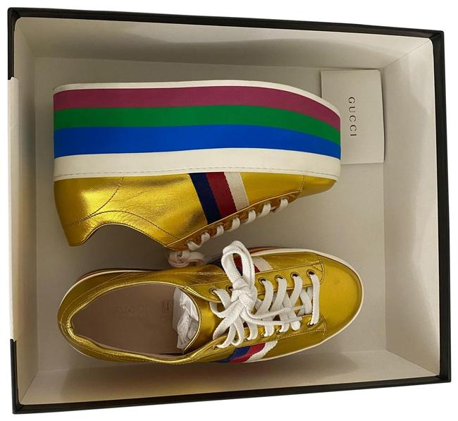Item - Gold Multi Platform Sneakers Size EU 37 (Approx. US 7) Regular (M, B)