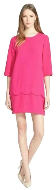 Item - Pink Fancy Meeting You Scalloped Shift Mid-length Work/Office Dress Size 4 (S)