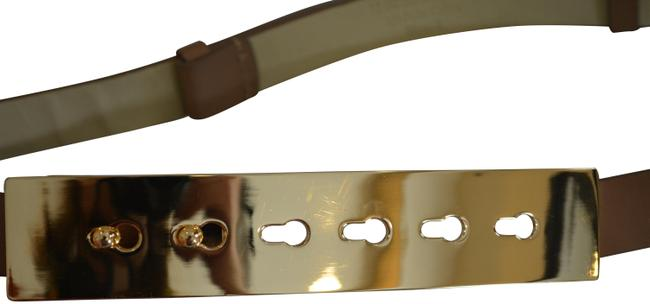 Item - Nude Stretch In Color with Gold Buckle Size Small Belt