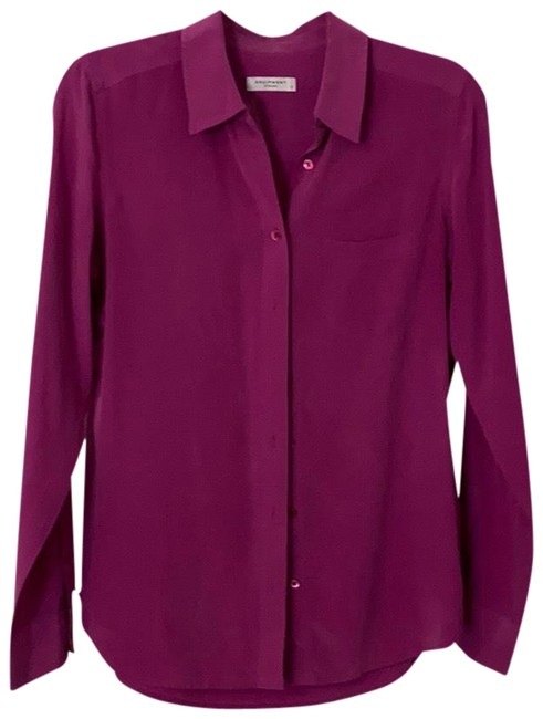 Equipment Purple Shirt Button-down Top Size 4 (S) Equipment Purple Shirt Button-down Top Size 4 (S) Image 1