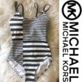 Michael Kors Black White Stripe Swimsuit*nwt One-piece Bathing Suit Size 6 (S) Michael Kors Black White Stripe Swimsuit*nwt One-piece Bathing Suit Size 6 (S) Image 7