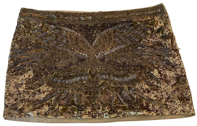 Item - Gold Sequined Skirt Size 6 (S, 28)