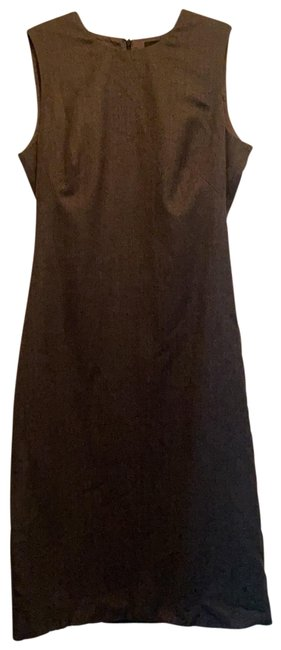 Item - Grey Fitted Wool Mid-length Work/Office Dress Size 6 (S)