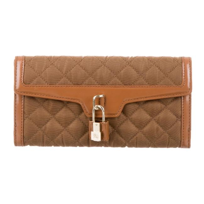 Item - Quilted Lock Wallet Brown Nylon Clutch
