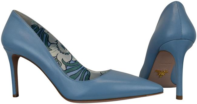 Item - Blue 1i939f Leather Pointed Toe Floral Lined Classic Italy Pumps Size EU 38 (Approx. US 8) Regular (M, B)