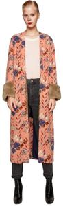 Zara pink/blue/brown fur Jacket