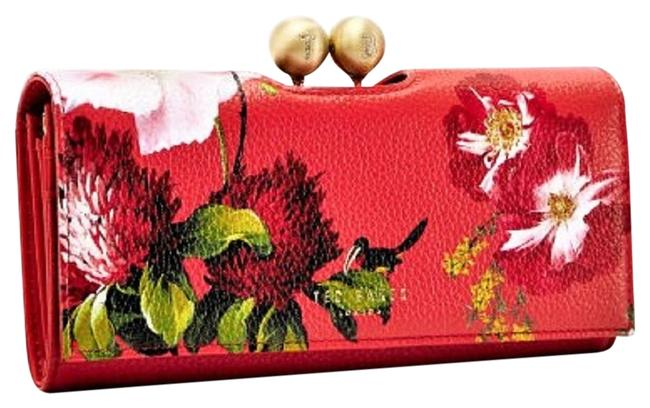 Item - Red Mildi Berry Sundae Leather Crystal Bobble Matinee Wallet