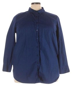 Woman Within Plus-size Button Down Shirt Blue