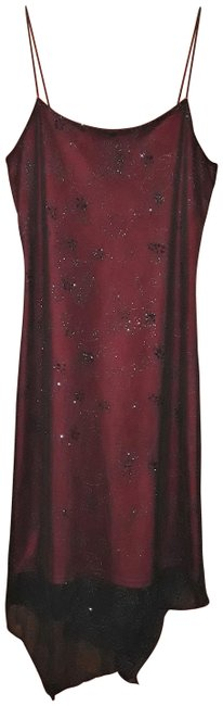 Item - Black/Red Evening Mid-length Night Out Dress Size 10 (M)