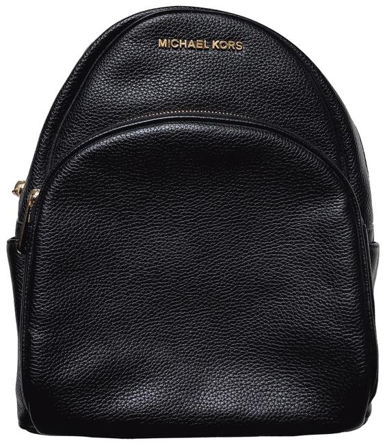 MICHAEL Michael Kors Abbey Black Leather Backpack MICHAEL Michael Kors Abbey Black Leather Backpack Image 1