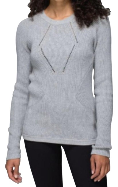 Item - Heathered Grey The Sweater The Better Activewear Top Size 4 (S)