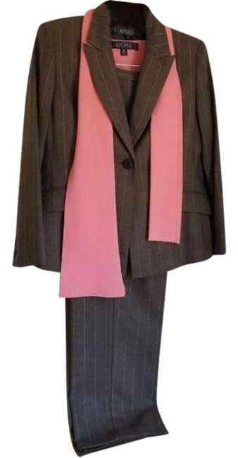 Item - Brown and Coral & Top Ls804 Pant Suit Size Petite 10 (M)