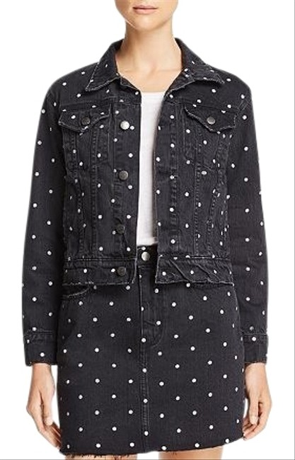 Item - Black Baby Trucker Polka Dot Jacket Size 4 (S)