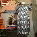 Thom Browne Black and Ivory & White Stretch Satin Sheath Mid-length Short Casual Dress Size 12 (L) Thom Browne Black and Ivory & White Stretch Satin Sheath Mid-length Short Casual Dress Size 12 (L) Image 3