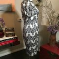 Thom Browne Black and Ivory & White Stretch Satin Sheath Mid-length Short Casual Dress Size 12 (L) Thom Browne Black and Ivory & White Stretch Satin Sheath Mid-length Short Casual Dress Size 12 (L) Image 6