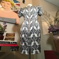 Thom Browne Black and Ivory & White Stretch Satin Sheath Mid-length Short Casual Dress Size 12 (L) Thom Browne Black and Ivory & White Stretch Satin Sheath Mid-length Short Casual Dress Size 12 (L) Image 9