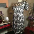 Thom Browne Black and Ivory & White Stretch Satin Sheath Mid-length Short Casual Dress Size 12 (L) Thom Browne Black and Ivory & White Stretch Satin Sheath Mid-length Short Casual Dress Size 12 (L) Image 10