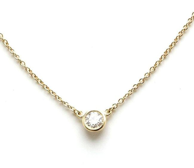 Item - Yellow Tiffany&co. By The Yard Pendant K18yg Gold 1pd Diamond 0.18ct F Color Vs2 Necklace