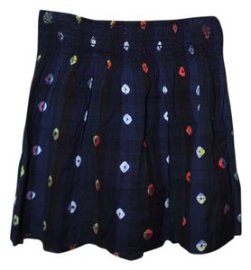 Old Navy Mini Patterned Summer Mini Skirt Navy Blue
