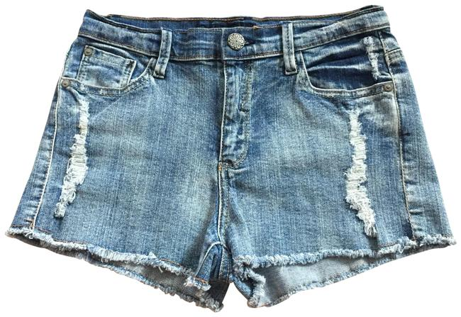 Item - Multicolor Jr 9 Distressed Cutoff Fringe Act W27.5 X I2 1/4 Denim Shorts Size 8 (M, 29, 30)