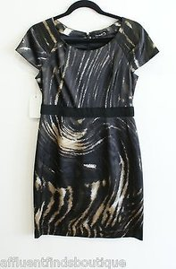 Tahari Blackgold Metallic Dress