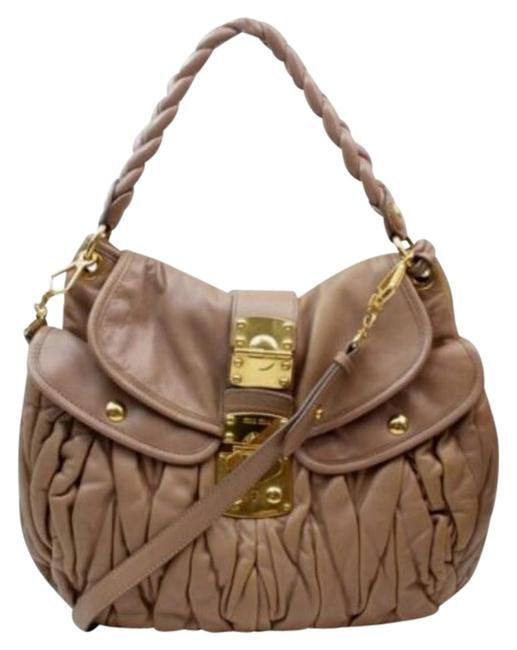 Item - 'matelasse' Two-way Style Or Cross Body Pink Pleated Leather/Gold Satchel