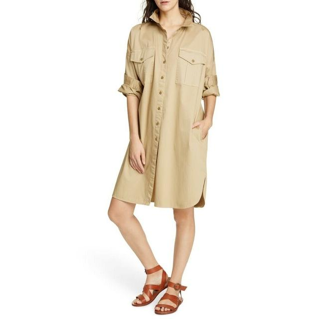 Item - Khaki Military Short Casual Dress Size 8 (M)