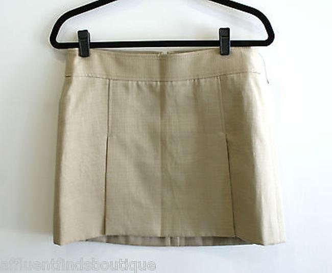 Dolce&Gabbana Tan Textured Front Pleated Or Skirt Size N/A Dolce&Gabbana Tan Textured Front Pleated Or Skirt Size N/A Image 1