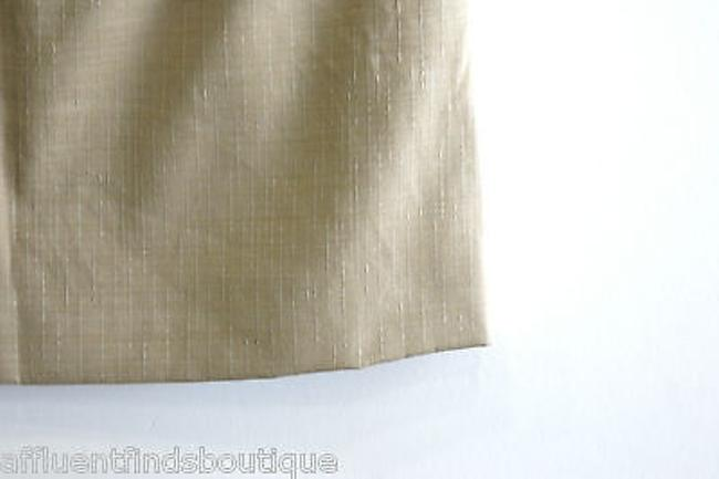 Dolce&Gabbana Textured Front Pleated Or Mini Skirt Tan
