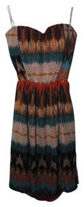 Love Culture short dress Tribal Boho Print Sundress Strapless Sweetheart Festival on Tradesy