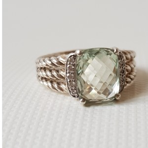 David Yurman David Yurman Wheaton Petite Prasiolite Diamond Ring