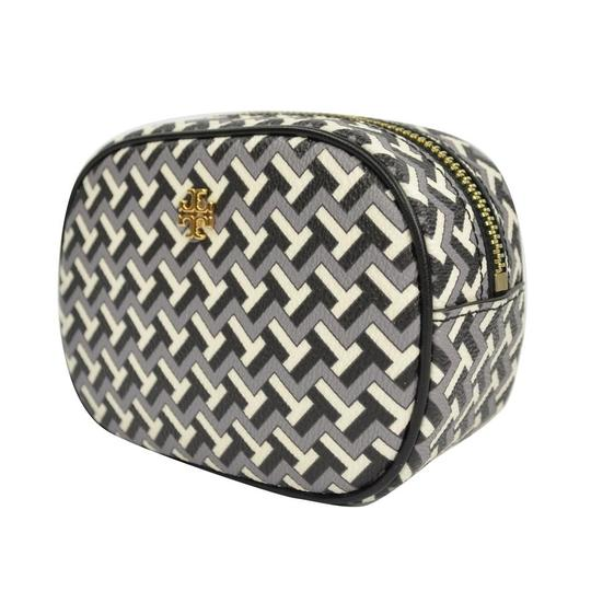 Preload https://img-static.tradesy.com/item/27600553/tory-burch-black-t-tile-allover-travel-pouch-cosmetic-bag-0-0-540-540.jpg