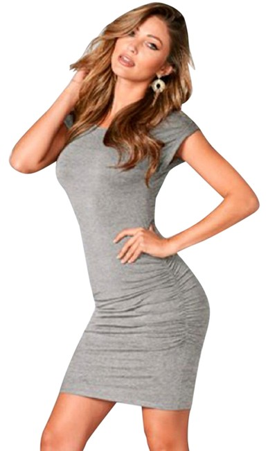 Preload https://img-static.tradesy.com/item/27600819/sundry-gray-ruched-short-casual-dress-size-0-xs-0-1-650-650.jpg