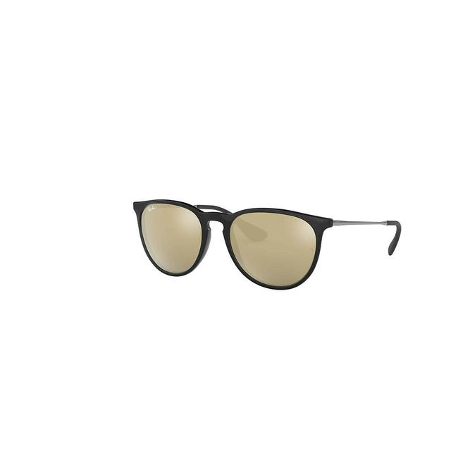 Ray-Ban Black Frame & Gold Gradient Lens Rb4171f-601-5a57-18 Round Women's Sunglasses Ray-Ban Black Frame & Gold Gradient Lens Rb4171f-601-5a57-18 Round Women's Sunglasses Image 1