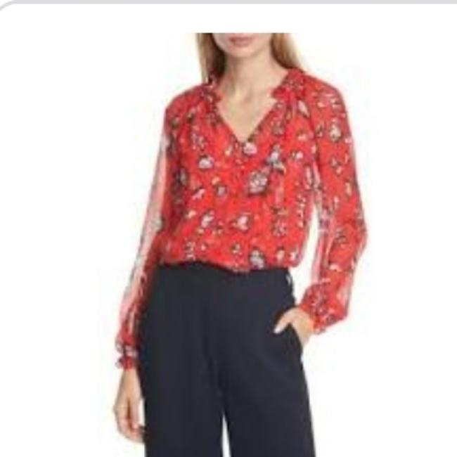 Preload https://img-static.tradesy.com/item/27600856/veronica-beard-red-lowell-blouse-size-6-s-0-4-650-650.jpg