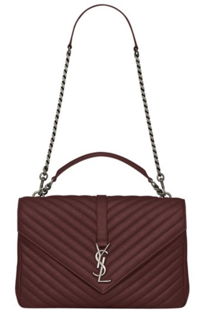 Item - Monogram Collège Large Dark Red Lambskin Leather Shoulder Bag