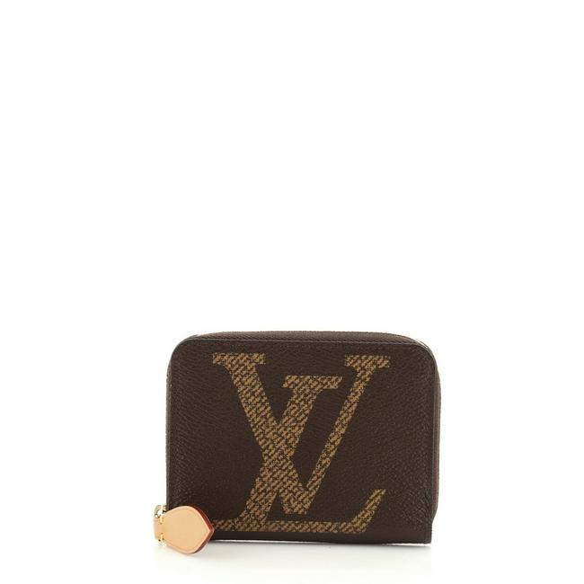 Louis Vuitton Zippy Coin Purse Limited Edition Reverse Monogram Giant Brown Coated Canvas Clutch Louis Vuitton Zippy Coin Purse Limited Edition Reverse Monogram Giant Brown Coated Canvas Clutch Image 1