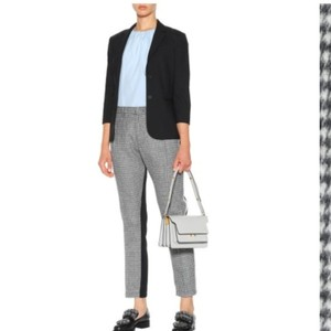No.21 Straight Pants Houndstooth black and white
