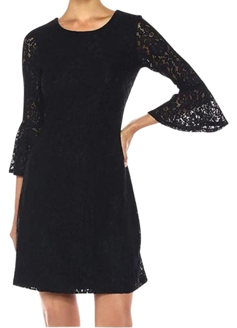 Preload https://img-static.tradesy.com/item/27601039/tommy-hilfiger-black-strect-lace-belle-sleeves-short-casual-dress-size-14-l-0-1-650-650.jpg