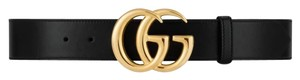Gucci Gucci marmont leather belt with shiny GG buckle size 105/42