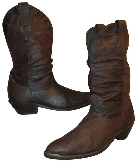 Item - Brown Vintage Leather Western Boots/Booties Size US 6.5 Regular (M, B)