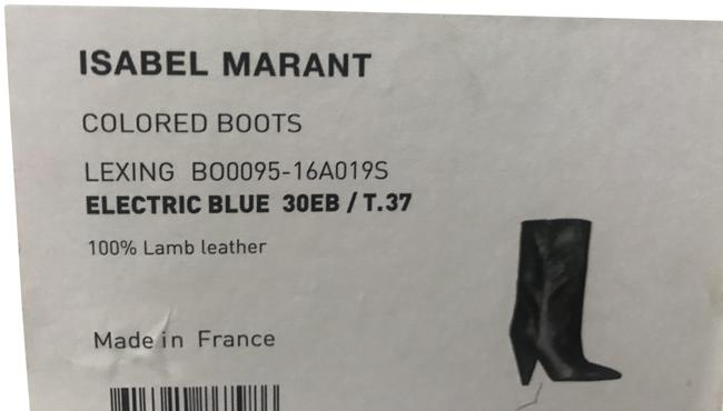Isabel Marant Electric Blue Exotic Cone Heel Boots/Booties Size EU 37 (Approx. US 7) Regular (M, B) Isabel Marant Electric Blue Exotic Cone Heel Boots/Booties Size EU 37 (Approx. US 7) Regular (M, B) Image 1